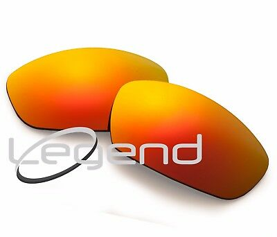 A80 Fire Red POLARIZED Replacement Lenses For Oakley STRAIGHT JACKET 07' & UP
