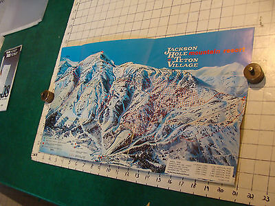 Vintage High Grade SKI Brochure: JACHSON HOLE w Map and papers, COOL---1973