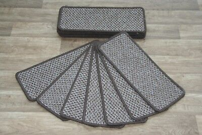 14 Galaxy Brown Open Plan Carpet Stair Treads Galaxy  Pad 14 Large Pads
