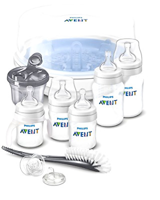 Baby Feeding Bottle Essentials Philips AVENT AntiColic Newborn Starter Set Clear