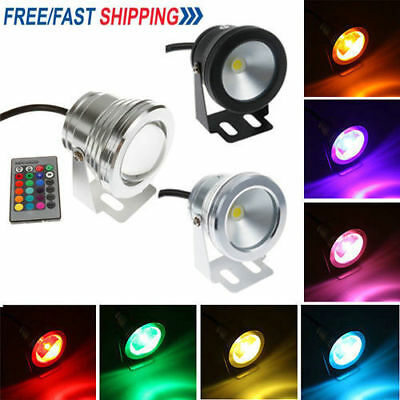 Lot Waterproof RGB LED 16 Color Change Flood Spot Light Outdoor Garden Bulb Lamp