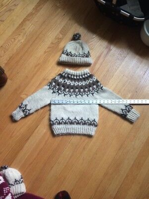 Vintage Lopi Sweater Hand Knit Wool Unisex Hipster Youth