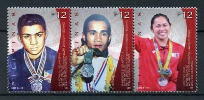 Philippines 2017 MNH Silver Medallists Rio 2016 Olympics 3v Strip Sports Stamps