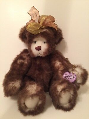 Annette Funicello Mohair Panda Teddy Bear Plush Jointed Pose-able 7.5 Inches Dolls & Bears