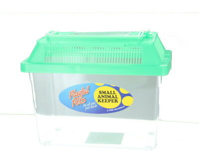 Playful Pets Small Animal Keeper Clear Plastic Tank with Ventilated Lid