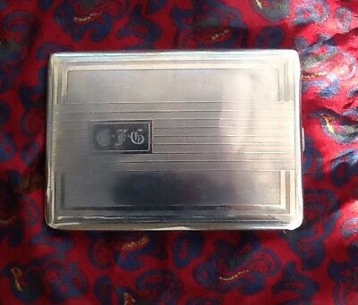 Solid Silver Art Deco Cigarette/Photo/Business Card Case