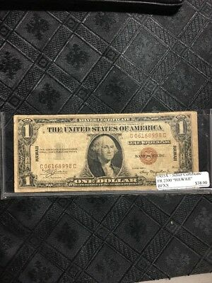 1935A $1 Silver Certificate With Hawaii WWII Emergency Note