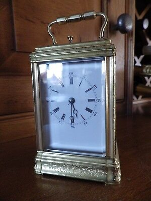Pierre & Alfred Drocourt Engraved Case Repeating Carriage Clock Fully Restored