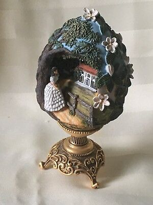"Gone With The Wind ~ Scarlett Of Tara ~ Egg ~ The Franklin Mint ~ 4.5"" X 2.5"""