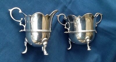 Superb Quality Solid Silver Victorian Sugar Bowl & Cream Jug. Outstanding 302gms