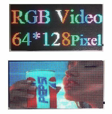 "LED Sign Video P5 HD Full Color 25""x 12"" Programmable Scrolling Message Display"