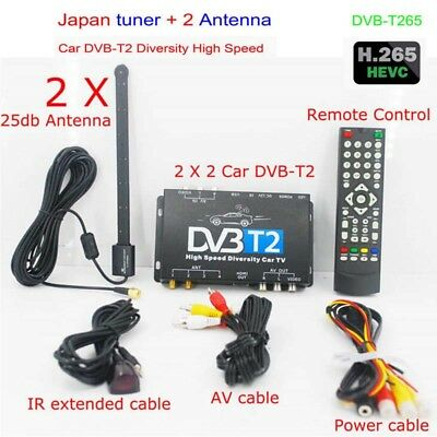 Car HDTV DVB-T2 DVB-T MULTI PLP Digital TV Receiver automobile DTV box Two Tuner