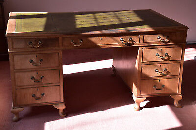Walnut Pedestal Desk - 3' x 5' Excellent Original condition.
