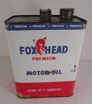 Vintage FOX HEAD 2 Gallon Premium Motor Oil Can