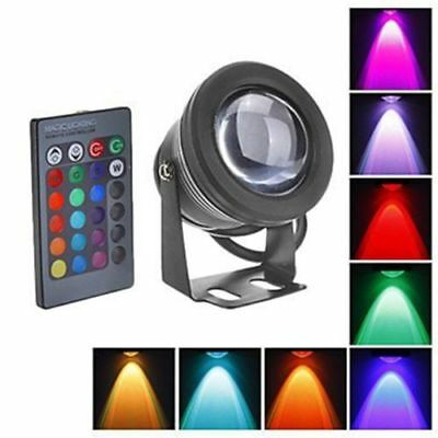 2x 10W LED Underwater Spot Light Bulb RGB Remote Control Colorful Waterproof 12v