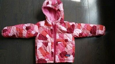 Patagonia Reversible Puff-Ball Jacket Pink 4T