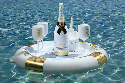 Official Moet Chandon Ice Imperial Acrylic Champagne Glasses Set x 4