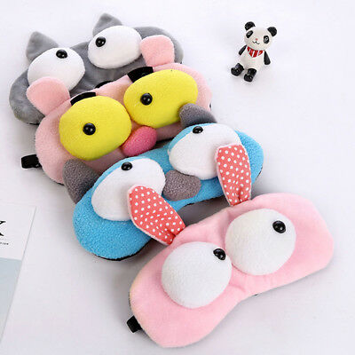 Cute Animals Sleep Eye Mask Padded Shade Cover Travel Relax Aid Blindfold Shield