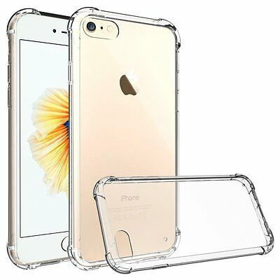 New Transparent Crystal Clear Case for iPhone 8 Case Gel TPU Soft Cover Skin