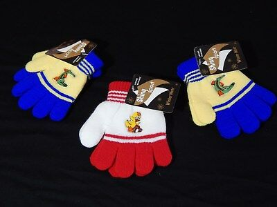 NEW Kids Winter Unisex gloves- Lot of 3 pairs-
