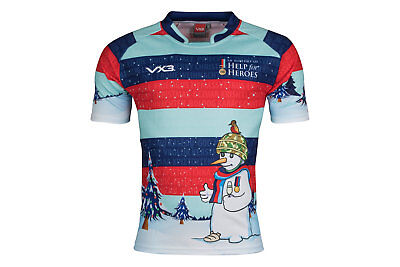 VX-3 Help For Heroes Christmas 2017 Snowman CharityRugby Shirt Top Sports