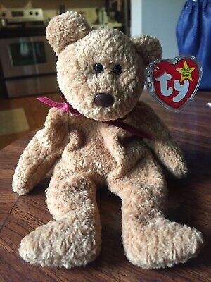 717e32d860a EXTREMELY RARE TY Beanie Baby  Curly  Retired Bear with MANY Errors ...