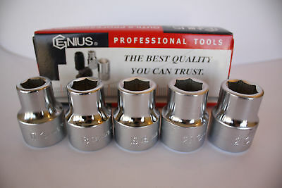 """Genius Tools 3/4"""" Drive Metric Hand Socket 17mm to 76mm - 6 Point"""