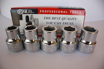"""Genius Tools 3/4"""" Drive SAE Hand Socket from 11/16"""" to 3"""" - 6 Point"""