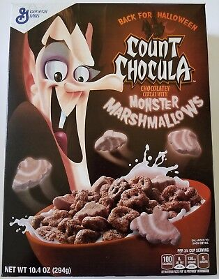 NEW 2017 Count Chocula Cereal With Monster Marshmallows FREE WORLDWIDE SHIPPING