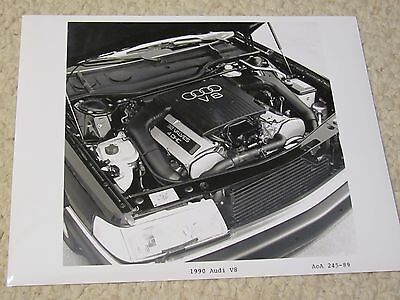 1989 Audi V8 Engine Original  Press Photo..