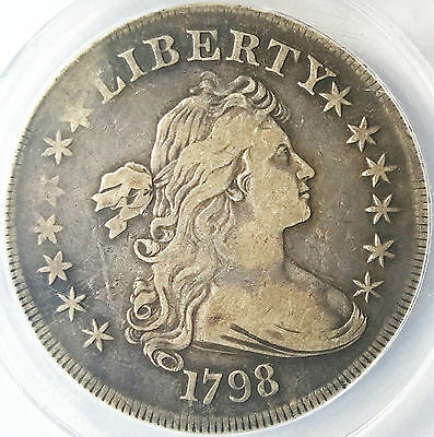 1798 Draped Bust Silver Rare Early Dollar - VF25 No Issues!