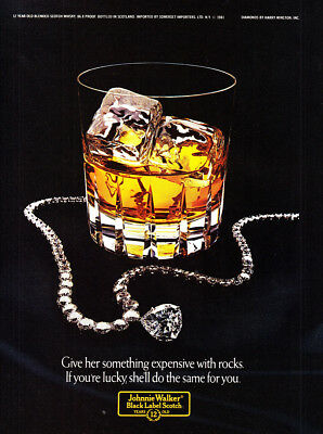 1981 Johnnie Walker: Something Expensive With Rocks (24505) Print Ad