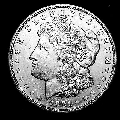 1921 S ~**ABOUT UNCIRCULATED AU**~ Silver Morgan Dollar Rare US Old Coin! #M17