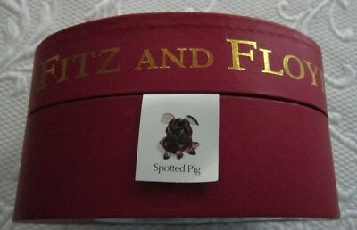 Fitz and Floyd Spotted Pig part of the Glass Menagerie collection-NIB