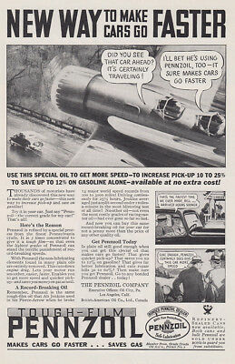 1934 Pennzoil: New Way to Make Cars Go Faster (29779) Print Ad