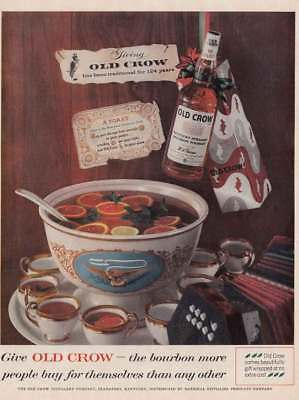 1959 Old Crow Bourbon: More People Buy For Themselves (17036) Print Ad