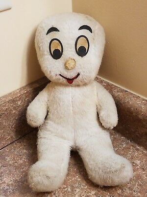 "Vintage 13"" Casper the Friendly Ghost Pull String Talking Plush Doll-Works"
