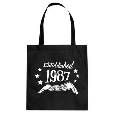 Tote Established 1987 Cotton Canvas Tote Bag #3445