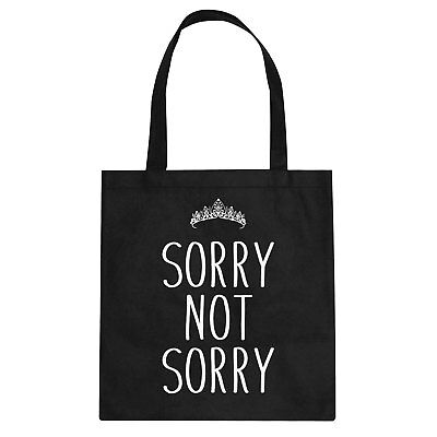 Sorry Not Sorry Cotton Canvas Tote Bag #3458