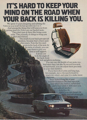 1973 Volvo: Your Back Is Killing You (30074) Print Ad