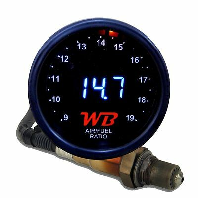 APSX V2 Anti-Glare D2 Digital Wideband O2 AFR Gauge & Sensor Kit Black & WHITE