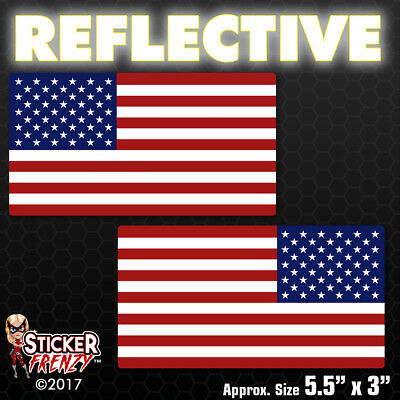 Truck Van Vinyl Window Bumper Decal Sticker Reversed Reflective Subdued American Flag Sticker 7 X 11 Tactical Military Flag USA Decal Great for Car Pick Up