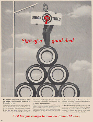 1961 Union 76 Tires: Sign of a Good Deal (27204) Print Ad