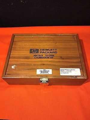 Hewlett Packard 85036B Type N 75 Ohm Calibration Kit and Wood Clasping Box