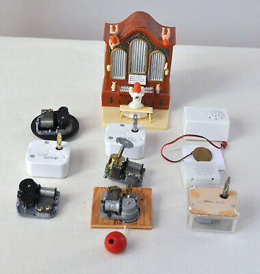 Lot of Vintage Working Music Box Parts For Dolls, Stuffed Animals, Crafts