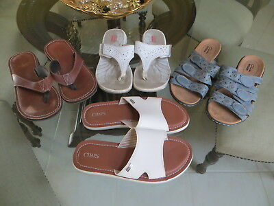 4 Women's Designer CLARKS SANDALS SHOES LOT-Size 8-ALL IN EXC. CONDITION!