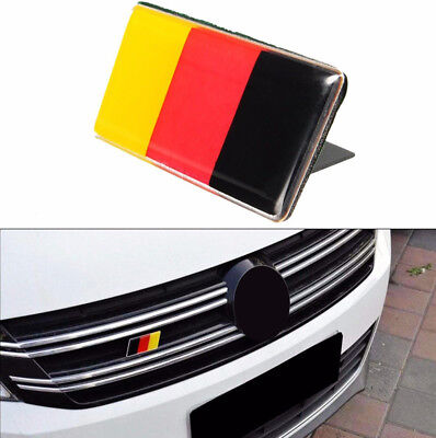 Front Grille Bumper German Flag Emblem Badge Sticker For Audi VW Golf/Jetta