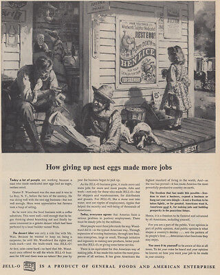 1946 Jello: How Giving Up Nest Eggs Made More Jobs (28953) Print Ad