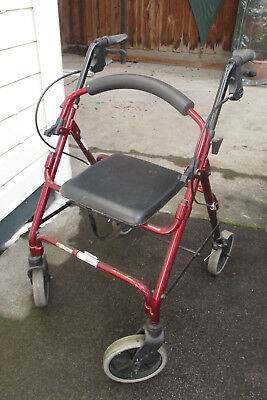 Portable mobility walker with seat walking frame