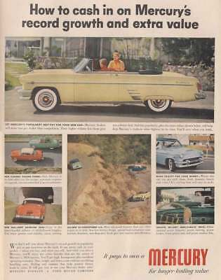 1954 Mercury: Record Growth and Extra Value (22877) Print Ad